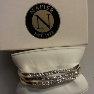 New set of Napier bangle bracelets with crystals